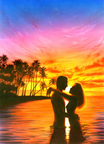 Andrew Farley Photograph - Sun Lovers Sun Worshippers by MGL Meiklejohn Graphics Licensing