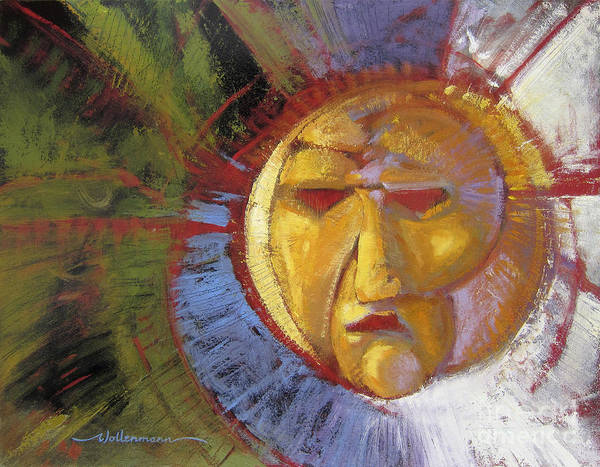 Painting - Sun Mask by Randy Wollenmann