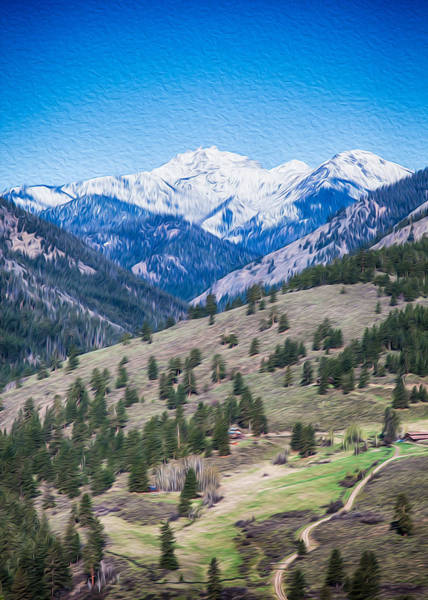 Photograph - Sun Mountain View Of Mt Gardner In Springtime by Omaste Witkowski