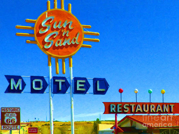 Photograph - Sun N Sand Motel 20130307 by Wingsdomain Art and Photography