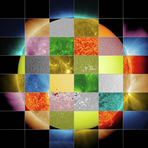 Photograph - Sun Observed At Different Wavelengths by Nasa/sdo/goddard Space Flight Center