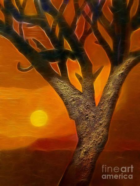 Digital Art - Sun Of Africa by Lutz Baar