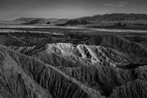 Font Photograph - Sun On The Borrego Badlands by Peter Tellone