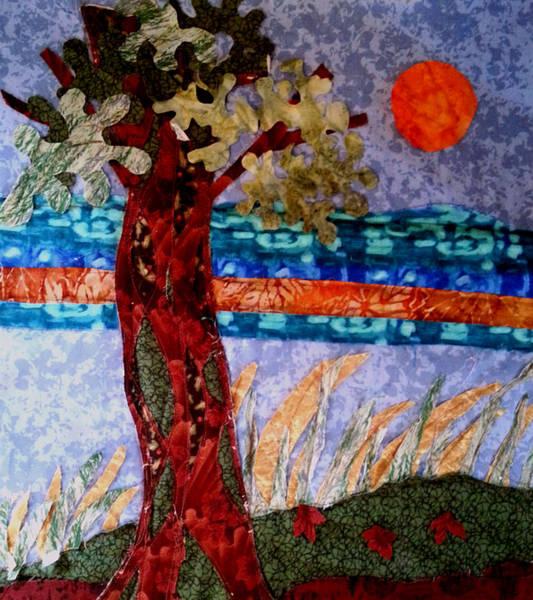 Tapestry - Textile - Sun Over Arbutus Work In Progress by Nikki Dalton