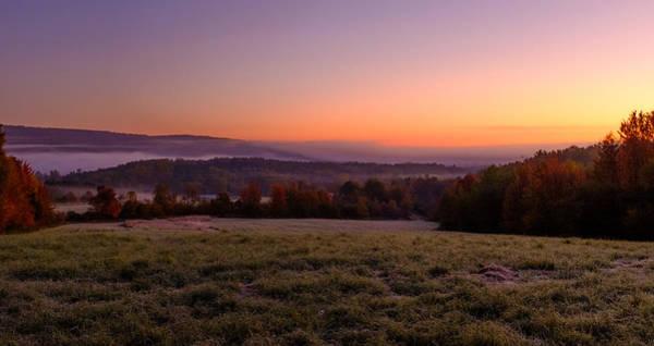 Photograph - Sun Over Fog On An Autumn Morning by Chris Bordeleau