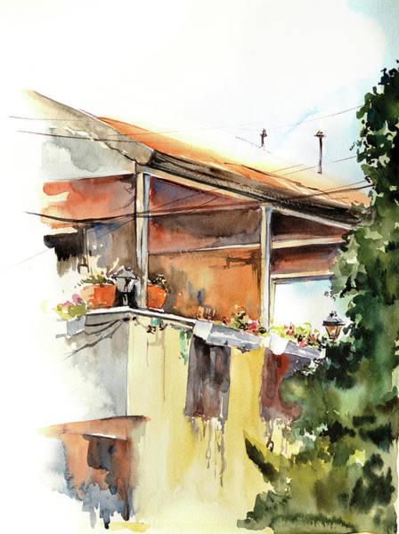 Porch Painting - Sun Porch by Sophia Rodionov