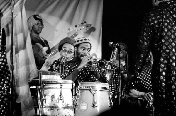 Photograph - Sun Ra Arkestra With Ahmed Abdullah by Lee Santa