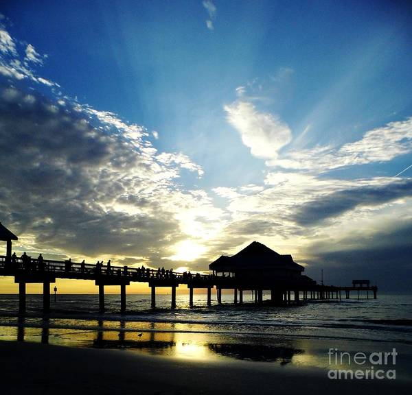 Photograph - Sun Rays Above Pier 60 by D Hackett