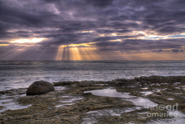 Digital Art - Sun Rays On The Ocean by Eddie Yerkish