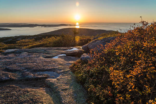 Acadia National Park Wall Art - Photograph - Sun Rise Shock by Kristopher Schoenleber