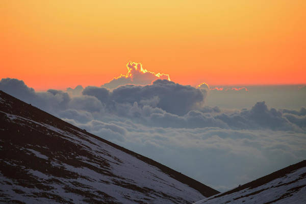 Big Island Photograph - Sun Rising Over Clouds by Cultura Exclusive/stuart Westmorland