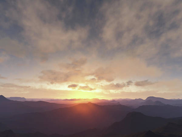 Rochester Photograph - Sun Rising Over Rural Mountains by Chris Clor