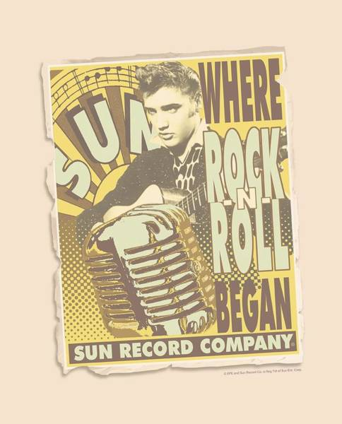 Wall Art - Digital Art - Sun - Rock N Roll Began Poster by Brand A