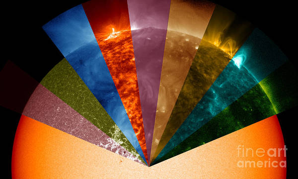 Photograph - Sun Seen In Different Wavelengths by Science Source