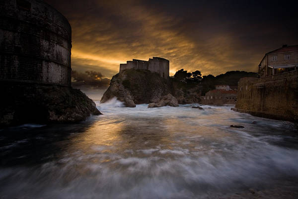 Dubrovnik Photograph - Sun Set In Stone by Daniel Zrno