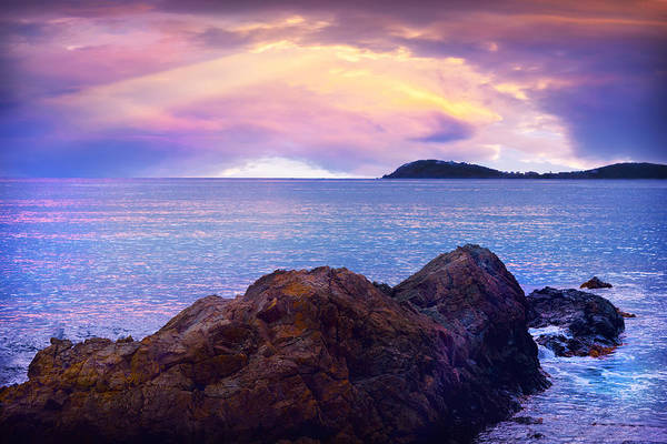 Rock Island Line Photograph - Sun Set Over St. Thomas by Camille Lopez