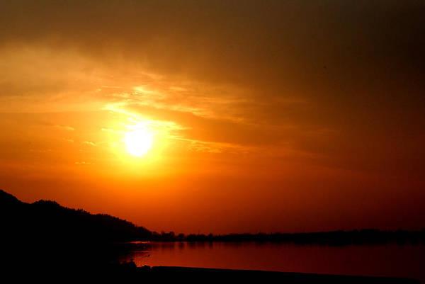 Dal Lake Photograph - Sun Set- Viator's Agonism by Vijinder Singh