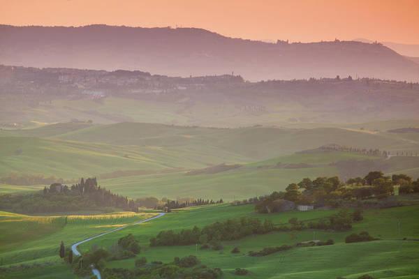 Tuscany Photograph - Sun Set View On Val Dorcia, Tuscany by Wingmar