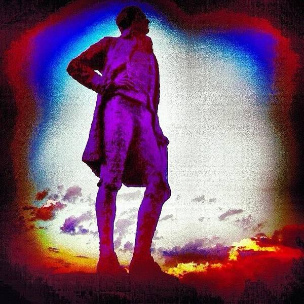 Politicians Wall Art - Photograph - Sun Sets On Jefferson In Paris by Michael Maiale