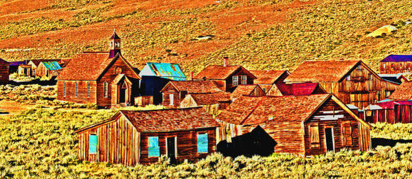 Bodie Digital Art - Sun Setting On Bodie by Joseph Coulombe