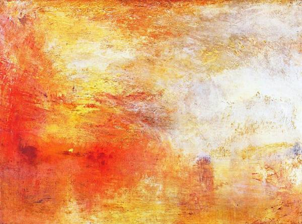 Painting - Sun Setting Over A Lake by William Turner