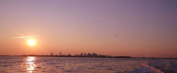 Wall Art - Photograph - Sun Setting Over Boston by Laura Lee Zanghetti