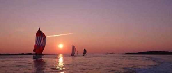 Wall Art - Photograph - Sun Setting Over Boston Series by Laura Lee Zanghetti