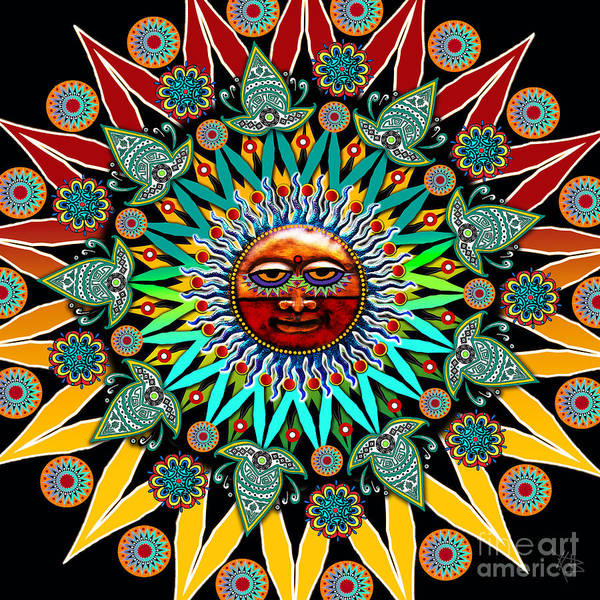 Art Print featuring the digital art Sun Shaman by Christopher Beikmann
