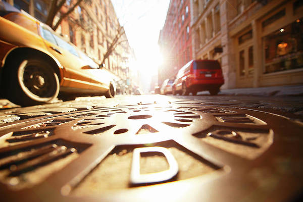 922c9ddf0 Manhole Wall Art - Photograph - Sun Shining Manhole At Soho Stone by Toshi  Sasaki