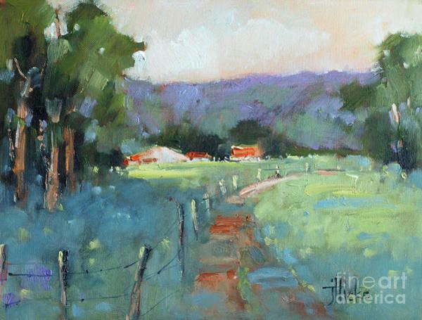 Fredericksburg Wall Art - Painting - Sun Struck Farm by Joyce Hicks
