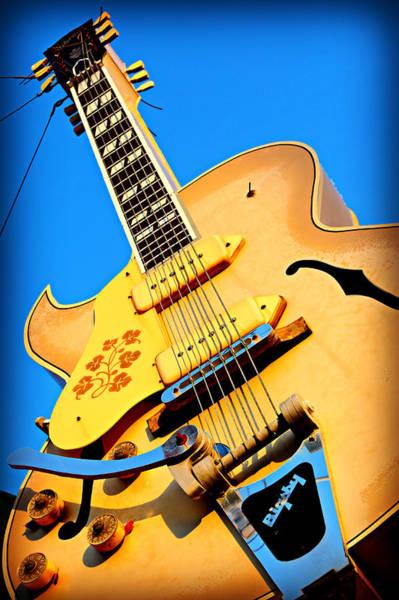 Sun Set Photograph - Sun Studio Guitar by Stephen Stookey