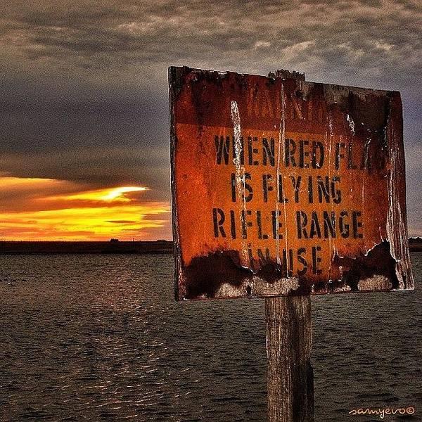 Rifles Photograph - #sun #sunrise #riflerange #rifle #gun by Sammy Evans