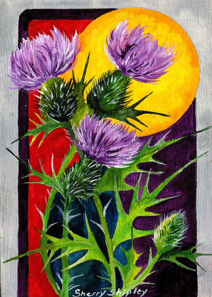 Painting - Sun Thistles by Sherry Shipley