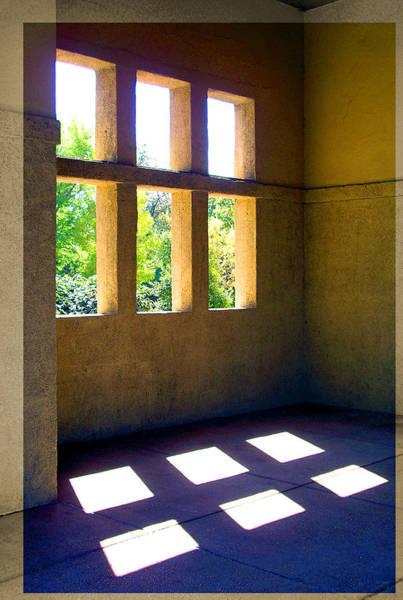 Sun Thru Windows Adobe Architecture Art Print
