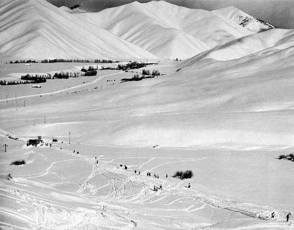North Idaho Photograph - Sun Valley New Ski Resort by Underwood Archives