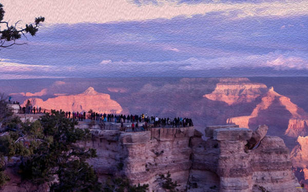 Photograph - Sun Worshippers Gather At The Grand Canyon by John M Bailey