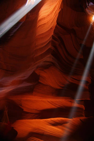 Photograph - Sunbeams In Upper Antelope Slot Canyon 15 by Jean Clark