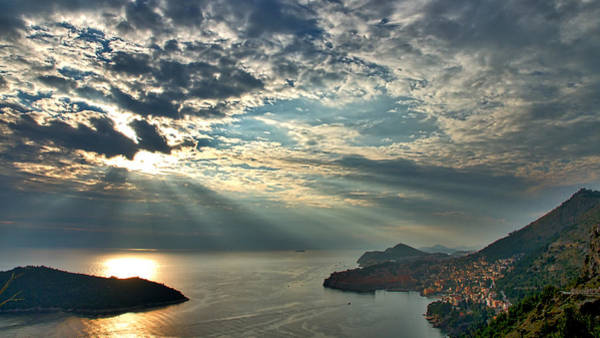 Lokrum Photograph - Sunbeams On Dubrovnik by Stuart Litoff