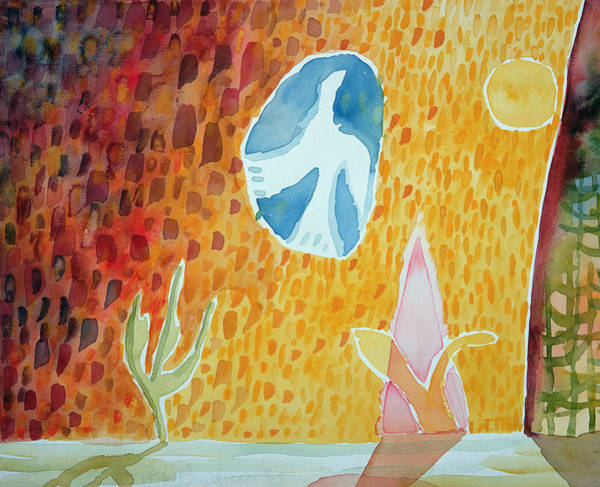 Naive Wall Art - Photograph - Sunburst, 1989 Wc On Paper by Peter Davidson