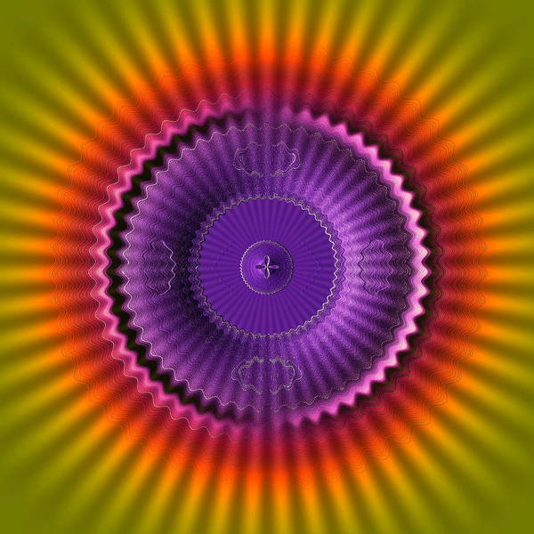 Digital Art - Sunburst Glow by Visual Artist Frank Bonilla