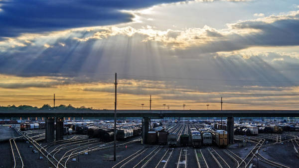 Wall Art - Photograph - Sunburst Over The Yards by Kevin Anderson