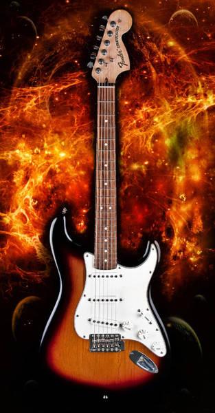 Electric Guitar Digital Art - Sunburst Stratocaster by Peter Chilelli