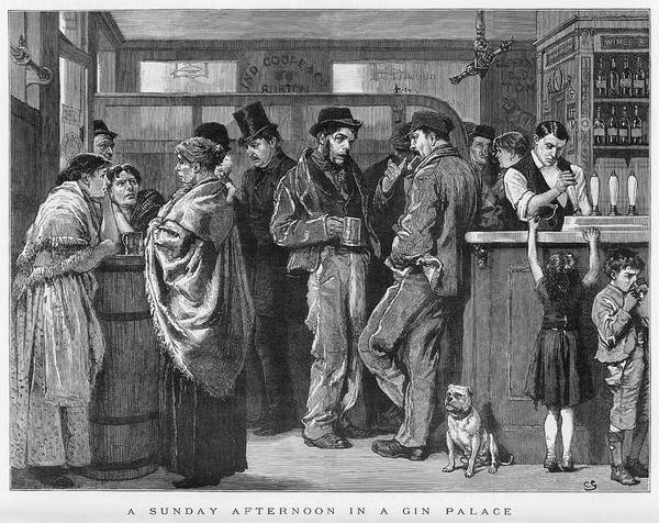 Sunday Afternoon Wall Art - Drawing - Sunday Afternoon In A London by  Illustrated London News Ltd/Mar