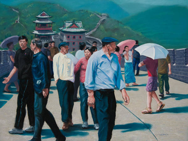Painting - Sunday Afternoon On The Great Wall by Christopher Reid