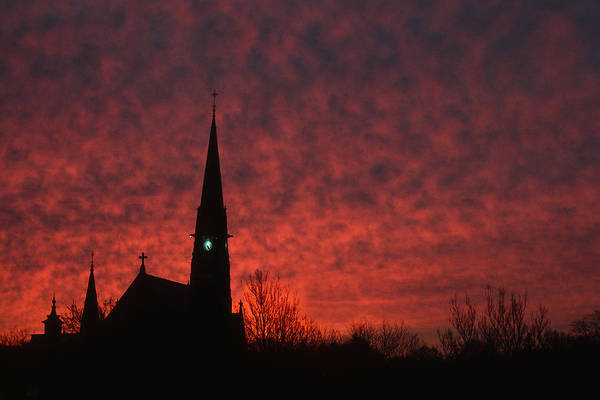 Steeple Wall Art - Photograph - Sunday Dawn by Andrew Soundarajan