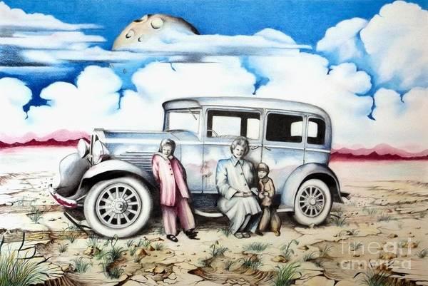 Drawing - Sunday Drive by David Neace