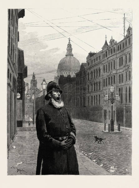 Wall Art - Drawing - Sunday In London, Engraving 1884, Uk, Britain by English School