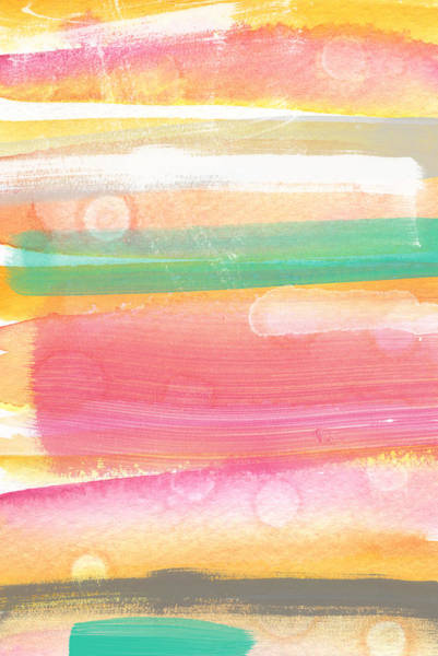 Bubbles Painting - Sunday In The Park- Contemporary Abstract Painting by Linda Woods