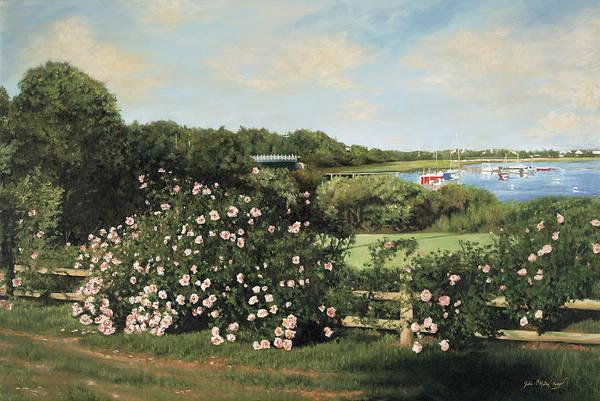 Mooring Painting - Sunday Morning Stroll by Julia O'Malley-Keyes