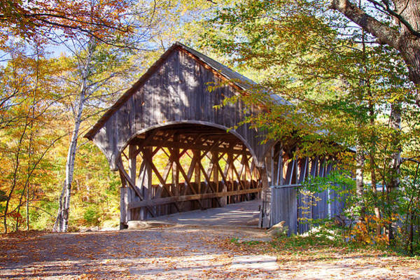 Photograph - Sunday River Covered Bridge by Jeff Folger